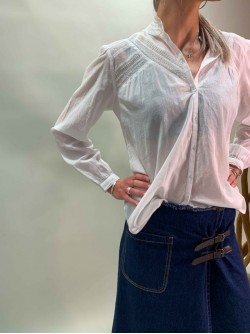 Blouse IKKS manches longues et broderies