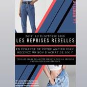 Les derniers jours pour venir profiter des reprises rebelles.....!🙂Ramenez nous votre ancien jean et nous vous offrons un chèque cadeau de 30 euros pour 129 euros d'achat !!Faites vite 🏃🏼♀️,c'est jusqu'au 31 octobre 🤗