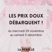 💝La Rebelle lance ses prix tout doux 💝  Pour vous faire plaisir en cette fin d'année, du mercredi 25 au samedi 5 décembre, les promos sont de retour 👌🏻  A shopper en ligne dès aujourd'hui sur notre site ou en boutique dès la réouverture (🙌🏻🙌🏻)  #larebellehazebrouck #larebelle #onlineshopping #douceur #prixdoux