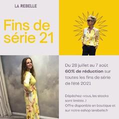 Les fins de série débarquent chez La Rebelle !  Pour shopper nos toutes dernières pièces de la collection été 2021, profitez d'une remise de 60% en boutique comme sur notre eshop larebelle.fr 😊  C'est valable du 28 juillet au 7 août, et les stocks sont ultra limités alors n'attendez pas trop longtemps ... Nous vous livrons partout en France, même sur votre lieu de vacances 😉   .  .  .  .  .  #tenuedujour #lookdujour #instastyle #mode #pretaporter #shoppingaddict #eshop #ss21 #nouvellecollection #larebelle #larebellehazebrouck #soutienauxcommercants #hazebrouckmaville #hazebrouck #promotion ##findesérie #remise #offre #soldes